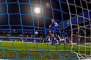 Rangers Tomer Hemed scores during the EFL Sky Bet Championship match between Queens Park Rangers and Sheffield Wednesday at the Loftus Road Stadium, London, England on 23 October 2018.