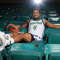 UNCW's Seahawks Jordon Talley (No. 4) photographed at Trask Coliseum on Wednesday, March 4, 2015. Staff Photo by Mike Spencer/StarNews Media