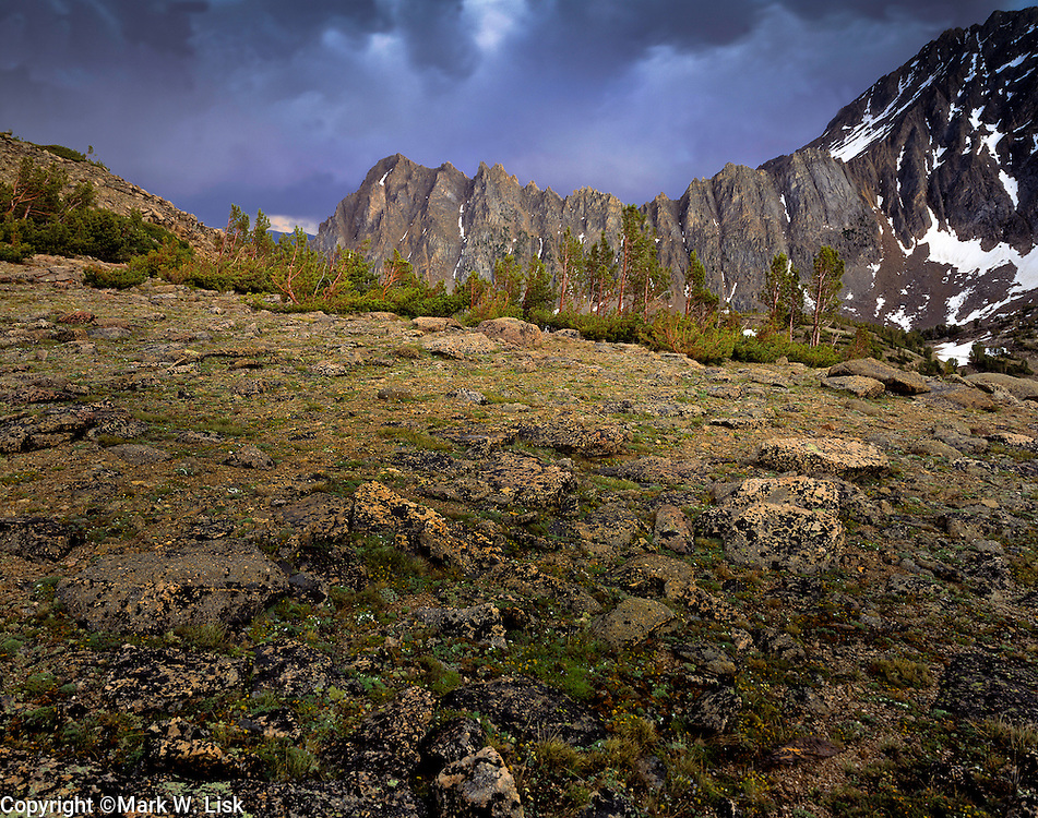 Storm cloud form over the aptly named Serate Ridge in the White Cloud Range of central Idaho.