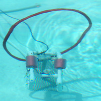 "One of two SeaPerch Robot's Navigates through an underwater obstacle course during ""Tiger Tech Camp"", in the Northeast Community College Pool on Wednesday afternoon in Booneville. The SeaPerch Robot is a Naval funded program for Northeast with ""Tiger Tech Camp"" teaching coding, lego robotuce, IPad 101, 3D printing and other technologies."