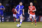 Gillingham midfielder Jermaine McGlashan during the Sky Bet League 1 match between Gillingham and Walsall at the MEMS Priestfield Stadium, Gillingham, England on 12 April 2016. Photo by Martin Cole.