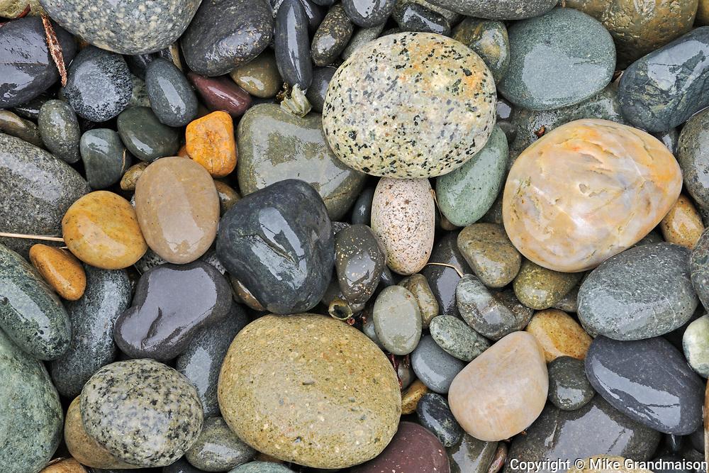 Rocks on Agate Beach.  Naikoon Provincial Park.  Graham Island. , Haida Gwaii (formerly the Queen Charlotte Islands), British Columbia, Canada