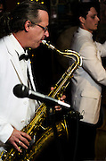 Bobby Michaels on sax performing with Bill Haley Jr. and The Comets at The Bus Stop Music Cafe in Pitman, NJ.