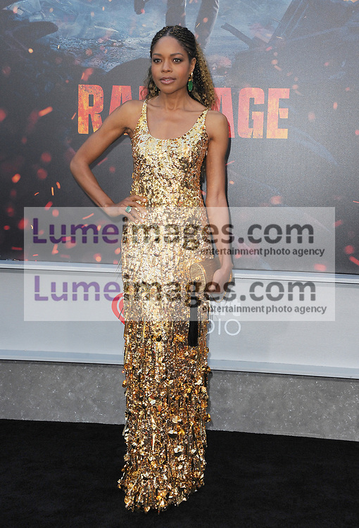 Naomie Harris at the Los Angeles premiere of 'Rampage' held at the Microsoft Theater in Los Angeles, USA on April 4, 2018.