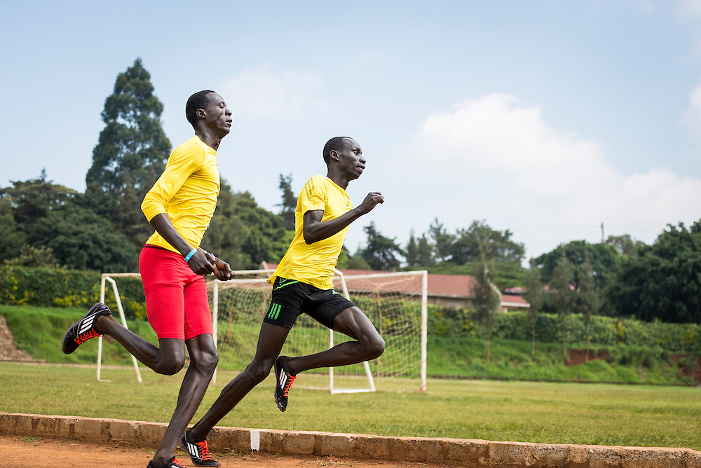 South Sudanese refugee, James Nyang Chiengjiek (right), selected for Refugee Olympic Team at the Olympic Games in Rio 2016