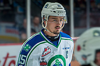 REGINA, SK - MAY 19: Glenn Gawdin #15 of Swift Current Broncos warms up against the Acadie-Bathurst Titan at the Brandt Centre on May 19, 2018 in Regina, Canada. (Photo by Marissa Baecker/CHL Images)