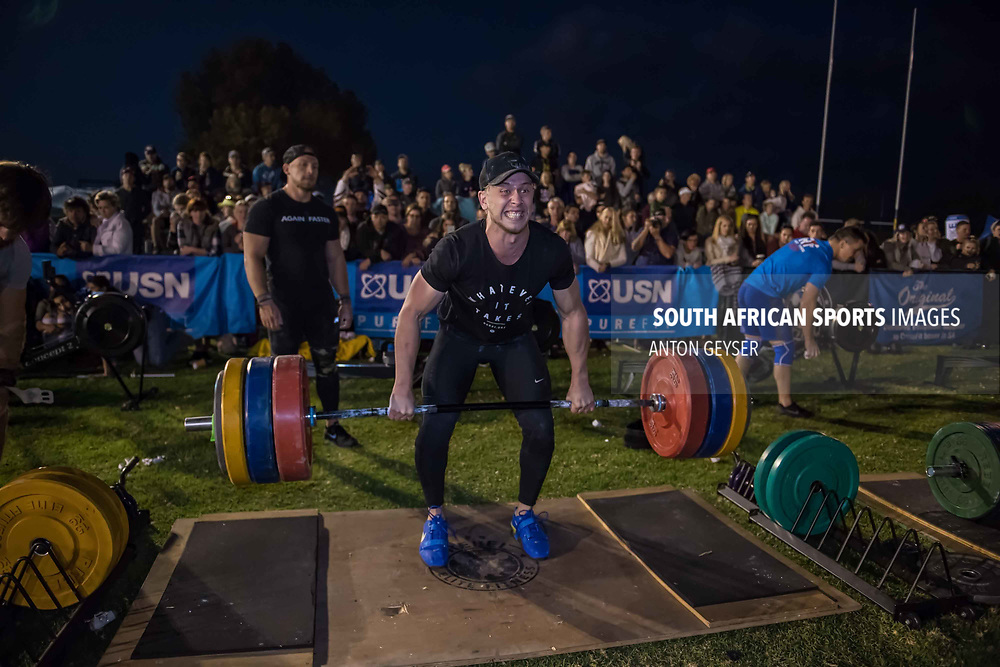 PRETORIA, SOUTH AFRICA - APRIL 29:  During the men's Final WOD at the Pretoria Throw Down in Waterkloof High School on April 29, 2017 in Pretoria, South Africa. (Photo by Anton Geyser/Gallo Images)