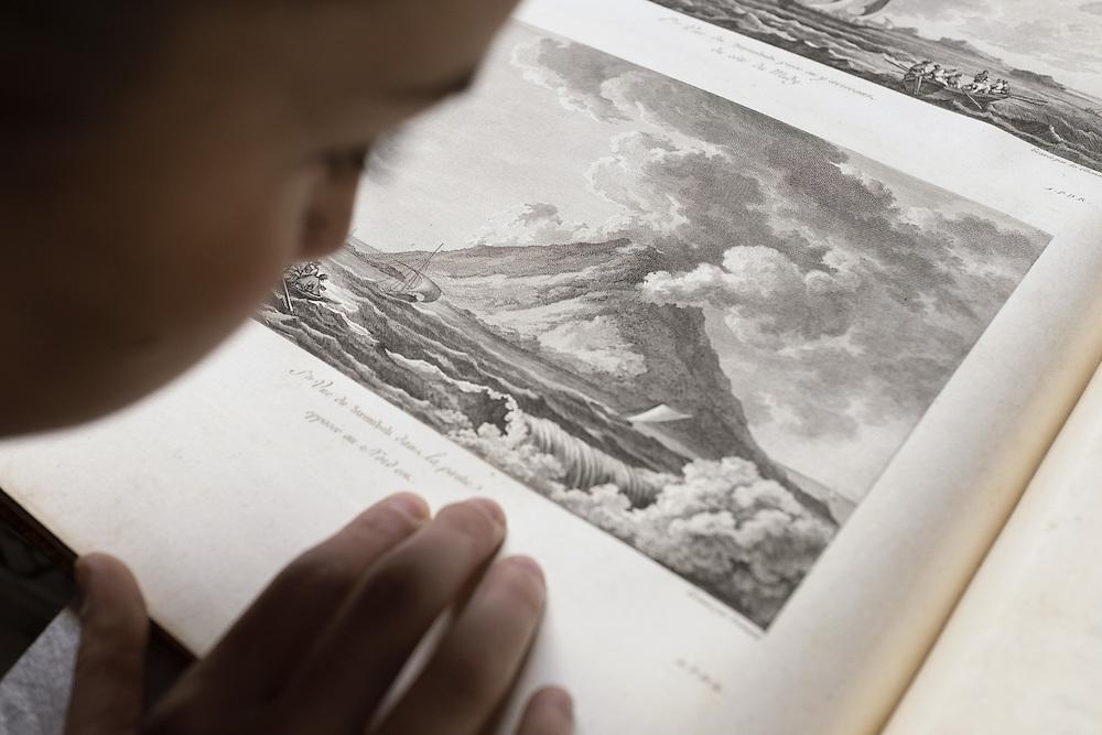 incisione all'interno di un libro di viaggi del XVIII secolo<br /> engraving on a travel book of XVIII century