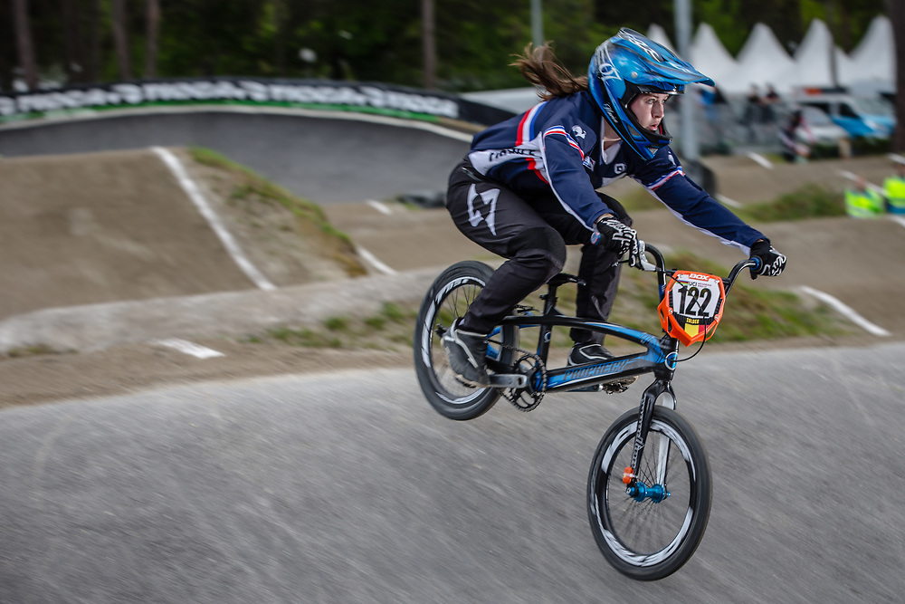 #122 (TORRES Marion) FRA during round 3 of the 2017 UCI BMX  Supercross World Cup in Zolder, Belgium,
