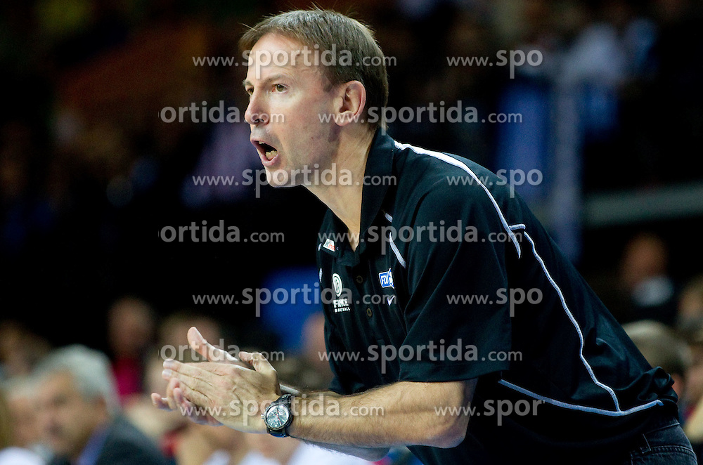 Vincent Collet, head coach of France during basketball game between National basketball teams of France and Greece at of FIBA Europe Eurobasket Lithuania 2011, on September 15, 2011, in Arena Zalgirio, Kaunas, Lithuania. France defeated Greece 64-56.  (Photo by Vid Ponikvar / Sportida)