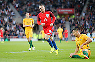 Wayne Rooney (19) of England celebrates scoring to make it 2-0 during the International Friendly match at the Stadium Of Light, Sunderland<br /> Picture by Simon Moore/Focus Images Ltd 07807 671782<br /> 27/05/2016