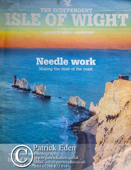 The Needles, Isle of Wight, Cover picture, The Independent,