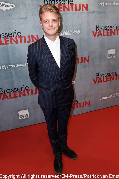 Premiere van de romantische komedie Brasserie Valentijn in Pathe Tuschibnski, Amsterdam.<br /> <br /> Op de foto:  Jim Deddes