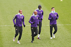 A general view of the Manchester City players during the training session at the Etihad Campus ahead of the UEFA Champions League second leg match against FC Barcelona - Photo mandatory by-line: Matt McNulty/JMP - Mobile: 07966 386802 - 17/03/2015 - SPORT - Football - Manchester - Etihad Campus - Barcelona v Manchester City - UEFA Champions League