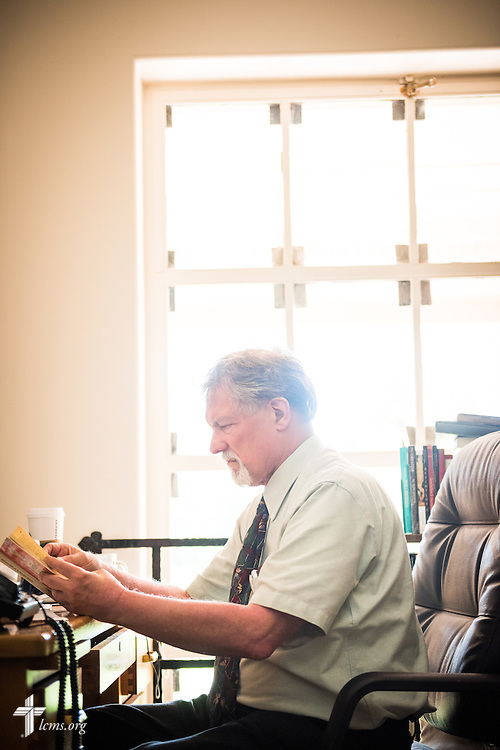 Dr. E. Christian Kopff, associate professor of Classics at the University of Colorado, Boulder, works in his office on Wednesday, July 22, 2015, in Boulder, Colo. LCMS Communications/Erik M. Lunsford