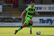 Forest Green Rovers Lloyd James(4) on the ball during the EFL Sky Bet League 2 match between Exeter City and Forest Green Rovers at St James' Park, Exeter, England on 27 October 2018.