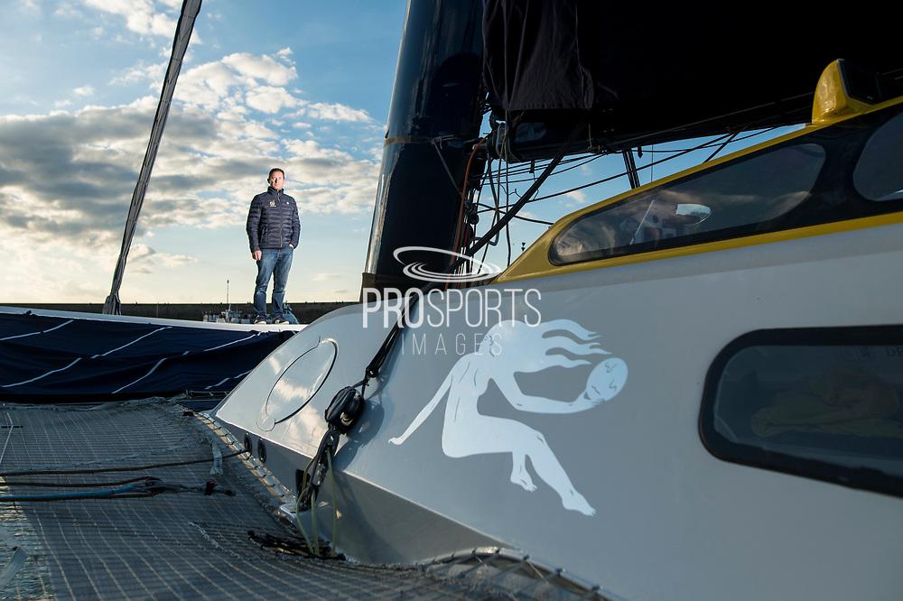Sébastien Josse on MAXI EDMOND DE ROTHSCHILD during the Route du Rhum 2018, on October 30th, in Saint Malo, France, before the Route du Rhum sailing race to start on November 4th 2018 - Photo Vincent Curutchet / ProSportsImages / DPPI