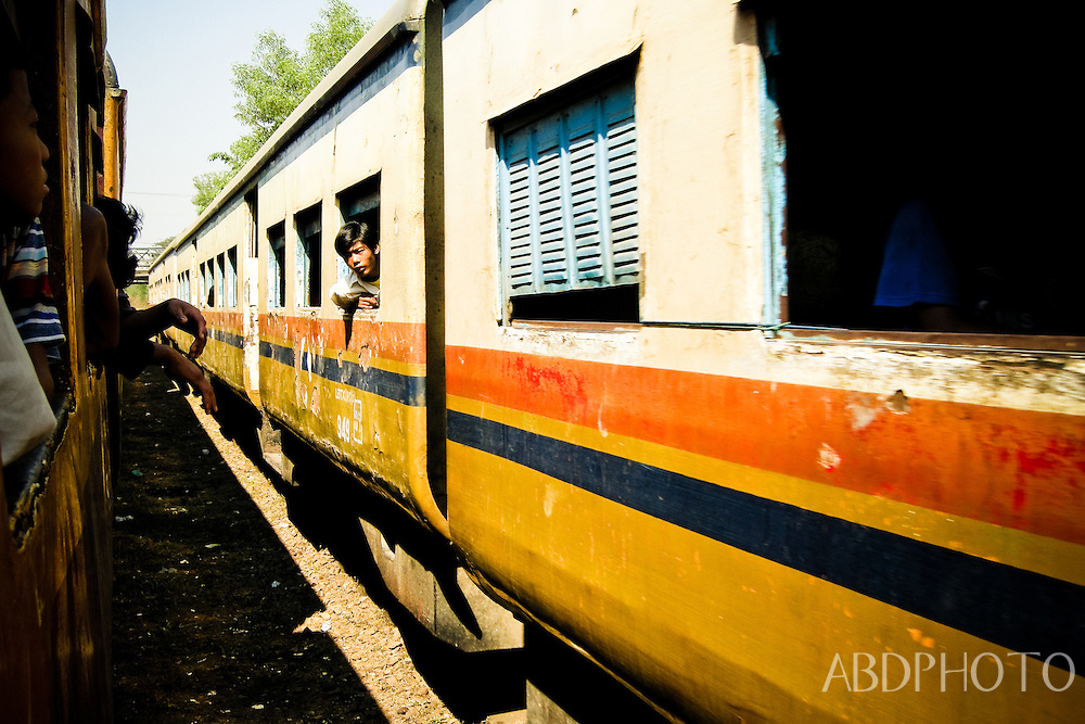 Train Yangon Myanmar Burma