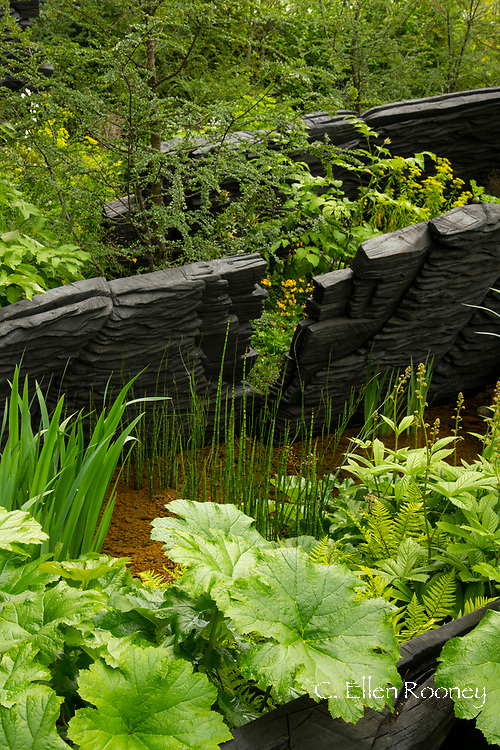 The M & G Garden designed by Andy Sturgeon and winner of the best show garden award at the RHS Chelsea Flower Show 2019, London, UK