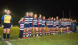 Players line-up for a minute of silence to mark Remembrance Day - Mandatory by-line: Paul Knight/JMP - 11/11/2017 - RUGBY - Cleve RFC - Bristol, England - Bristol Ladies v Loughborough Lightning - Tyrrells Premier 15s