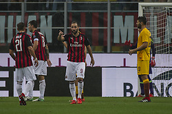 September 1, 2018 - Milan, Italy - Serie A football, AC Milan versus AS Roma; Gonzalo Higuaín of AC Milan gestures (Credit Image: © Gaetano Piazzolla/Pacific Press via ZUMA Wire)