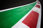 October 27, 2016: Mexican Grand Prix. Curb detail at Autodromo Hermanos Rodriguez