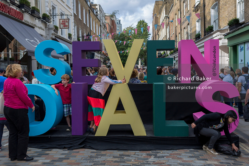 The Seven Dials Spotlight street festival in Soho, on 19th August 2017, in London, England.