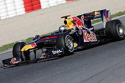 26.02.2010, Circuit de Catalunya, Barcelona, ESP, Formel 1 Tests, im Bild Sebastian Vettel - Red Bull F1 team, EXPA Pictures © 2010, PhotoCredit: EXPA/ InsideFoto/ Semedia / SPORTIDA PHOTO AGENCY