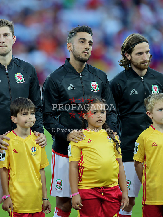 TOULOUSE, FRANCE - Monday, June 20, 2016: Wales' Neil Taylor before the final Group B UEFA Euro 2016 Championship match against Russia at Stadium de Toulouse. (Pic by David Rawcliffe/Propaganda)