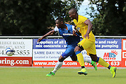 AFC Wimbledon striker Tom Elliott (9)  during the Pre-Season Friendly match between Margate and AFC Wimbledon at Hartsdown Park, Margate, United Kingdom on 16 July 2016. Photo by Stuart Butcher.