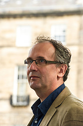 Pictured: Volker Kutscher is a German journalist and writer <br /> Book fanatics headed to Charlotte Square in Edinburgh which is the hub of the international Book Festival to meet the authors and also to meet up with fellow fans of the printed word.<br /> <br /> <br /> Ger Harley | EEm 21 August 2017