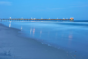 Atlantic Beach fishing pier after sunset in April 2018 (note: fishing pier later was damaged by Hurricane Florence)