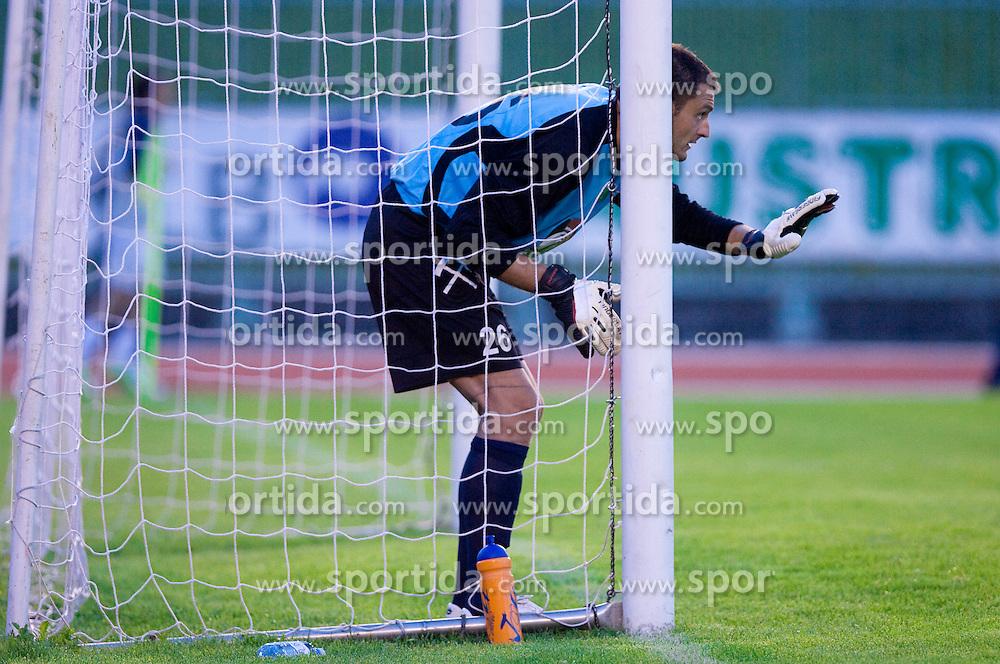 Goalkeeper of Rudar Boban Savic at 1st Round of Europe League football match between NK Rudar Velenje (Slovenia) and Trans Narva (Estonia), on July 9 2009, in Velenje, Slovenia. Rudar won 3:1 and qualified to 2nd Round. (Photo by Vid Ponikvar / Sportida)