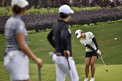 October 27, 2017 - Kuala Lumpur, Malaysia - Lydia Ko(R) of New Zealand in action during day two of the Sime Darby LPGA Malaysia at TPC Kuala Lumpur on October 27, 2017 in Kuala Lumpur, Malaysia  (Credit Image: © Chris Jung/NurPhoto via ZUMA Press)