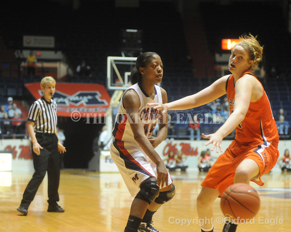"""Ole Miss vs. Auburn in women's college basketball at the C.M. """"Tad"""" SMith Coliseum in Oxford, Miss. on Thursday, February 25, 2010."""