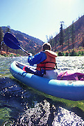 Kayaking, Middle Fork, Salmon River, Idaho<br />