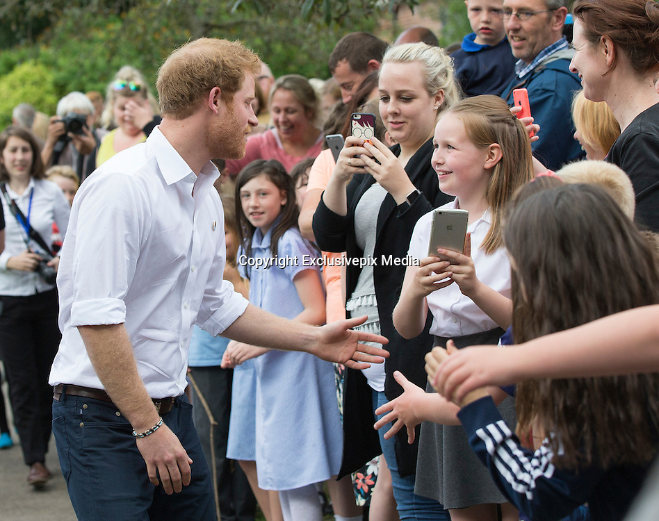 STOCKPORT-  UK  -21st June 2016: <br /> Prince Harry  joins an RFU-backed community rugby programme in Alexandra Park Stockport on , as he continues to develop his involvement in initiatives that use the power of sport for social development.<br /> &copy;Exclusivepix Media