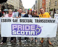 Scotia Pride march 2018, Edinburgh, 16 June 2018