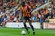 Clayton Donaldson controls the ball during the EFL Sky Bet League 2 match between Bradford City and Oldham Athletic at the Northern Commercials Stadium, Bradford, England on 17 August 2019.
