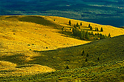 Storm light in Grasslands. Thompson Valley, Kamloops, British Columbia, Canada