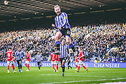 Sheffield Wednesday vice captain Barry Bannan celebrates his goal to give Sheffield Wednesday the lead during the EFL Sky Bet Championship match between Sheffield Wednesday and Bristol City at Hillsborough, Sheffield, England on 22 December 2019.