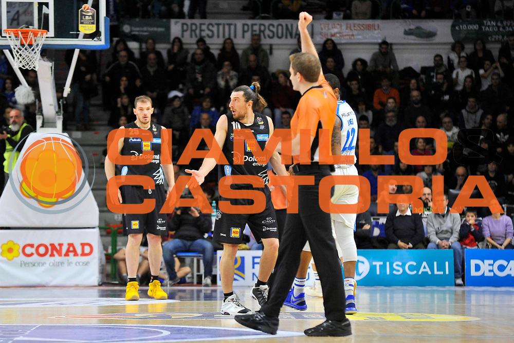 Forray Toto<br /> Banco di Sardegna Dinamo Sassari - Dolomiti Energia Trentino<br /> LegaBasket Serie A LBA Poste Mobile 2017/2018<br /> Sassari 07/01/2018<br /> Foto Ciamillo-Castoria