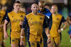 Rob Hawkins of Bristol Rugby looks frustrated after a 22-6 loss - Rogan Thomson/JMP - 20/10/2016 - RUGBY UNION - The Recreation Ground - Bath, England - Bath Rugby v Bristol Rugby - EPCR Challenge Cup.
