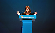 LIVERPOOL. Lynne Featherstone MP addresses the conference on diversity issues at  the Liberal Democrat Conference at the ACC arena on Liverpool Waterfront. 20th September 2010.STEPHEN SIMPSON.
