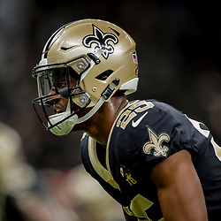 Dec 23, 2018; New Orleans, LA, USA; New Orleans Saints cornerback Eli Apple (25) prior to kickoff against the Pittsburgh Steelers at the Mercedes-Benz Superdome. Mandatory Credit: Derick E. Hingle-USA TODAY Sports
