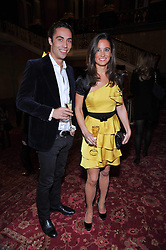 JAMES MIDDLETON and PIPPA MIDDLETON at a party to celebrate 300 years of Tatler magazine held at Lancaster House, London on 14th October 2009.