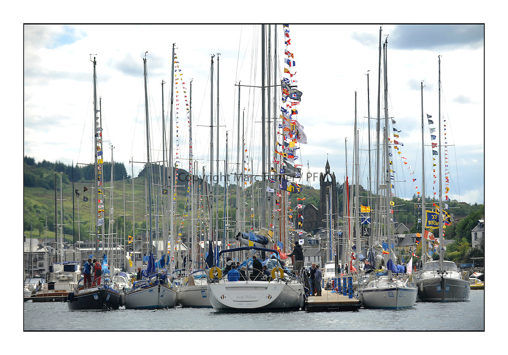 Brewin Dolphin Scottish Series 2012, Tarbert Loch Fyne - Yachting - Day 3 ..Jubilee colours throughout Tarbert Harbour.