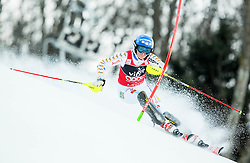 """Hansdotter Frida (SWE) competes during FIS Alpine Ski World Cup 2014/15 5th Ladies' Slalom race named """"Snow Queen Trophy 2015"""", on January 4, 2015 in Course Crveni Spust at Sljeme hill, Zagreb, Croatia.  Photo by Vid Ponikvar / Sportida"""