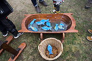 Wood fishing game for kids. <br />