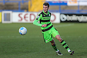 Forest Green Rovers Christian Doidge(9) runs forward during the FA Trophy match between Macclesfield Town and Forest Green Rovers at Moss Rose, Macclesfield, United Kingdom on 4 February 2017. Photo by Shane Healey.